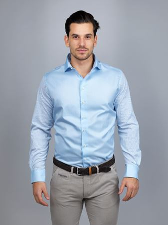 Hansen&Jacob - Shirt, Mixed Fabric, Gmt Wash