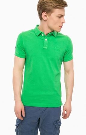 Superdry - Vintage destroyed ss pique polo