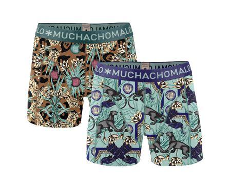 MUCHACHOMALO-MEN 2-PACK SHORT PARA X-BROWN