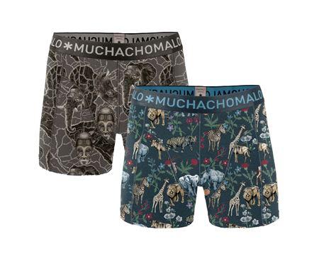 MUCHACHOMALO-MEN 2-PACK SHORT AFRI X-BLUE