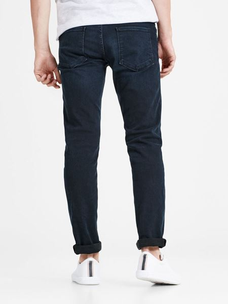 JACK&JONES-GLENN FELIX AM 458 PCW SPS SLIM FIT JEANS-BLÅ/BLACK-DENIM