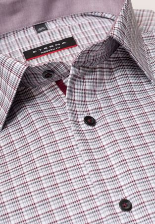 ETERNA-LONG SLEEVE SHIRT MODERN FIT TWILL RED CHECKED