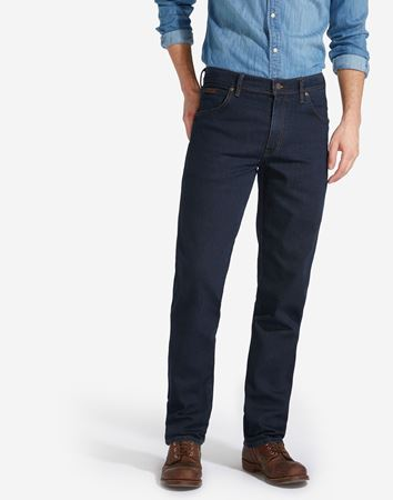 WRANGLER-TEXAS STRETCH JEANS-BLUE-BLACK