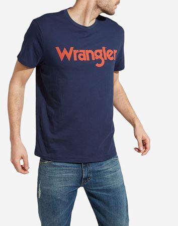 WRANGLER-LOGO TEE-NAVY