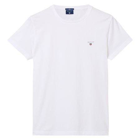Picture of GANT-THE ORIGINAL FITTED T-SHIRT-WHITE