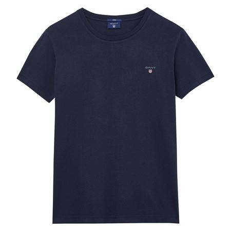 Picture of GANT-THE ORIGINAL FITTED T-SHIRT-EVENING-BLUE