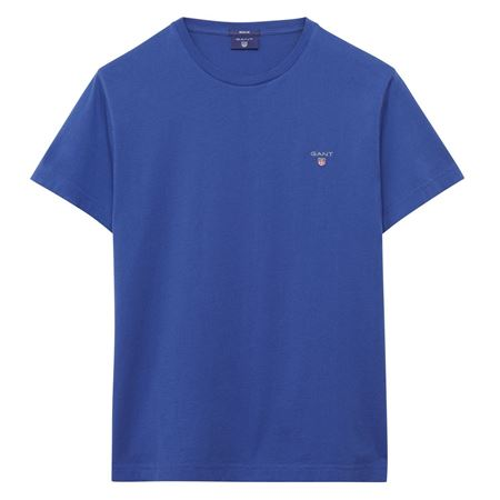 Picture of GANT-THE ORIGINAL T-SHIRT-YALE-BLUE