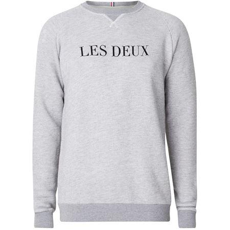 LES DEUX-SWEATSHIRT - SNOW MEL./BLACK