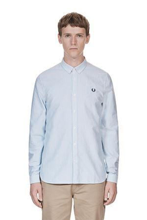 Fred Perry - Oxford Pinstripe Shirt - 139 Royal