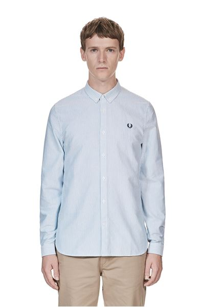 Fred Perry - Oxford Pinstripe Shirt - 139 Royal