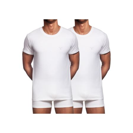 GANT-2-PACK COTTON T-SHIRTS-WHITE