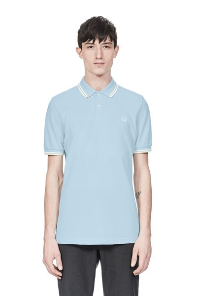 FRED PERRY-M3600-SKY-BLUE-OXFORD/ECRU/ECRU