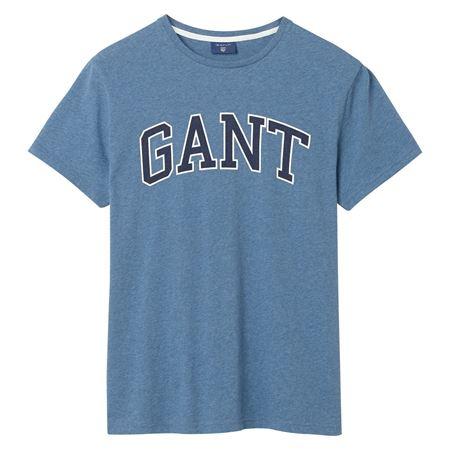 GANT-OUTLINE T-SHIRT-DENIM-BLUE-MEL