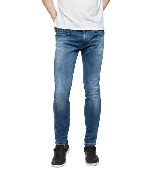 REPLAY-HYPERFLEX ANBASS SLIM-FIT JEANS-DENIM