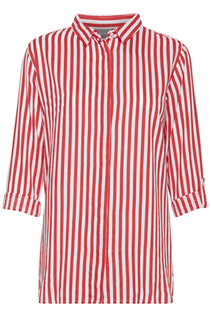 d712495eccfa B.YOUNG-FABIANNE STRIPE SHIRT- TOMATO RED