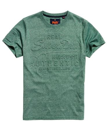 SUPERDRY-VINTAGE AUTHENTIC EMBOSSED T-SHIRT-CLOVERFIELD-GREEN