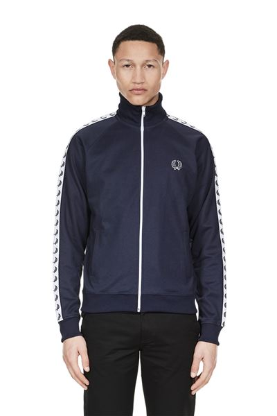 Fred Perry - Sports Authentic Taped Track Jacket - 266 Carbon Blue