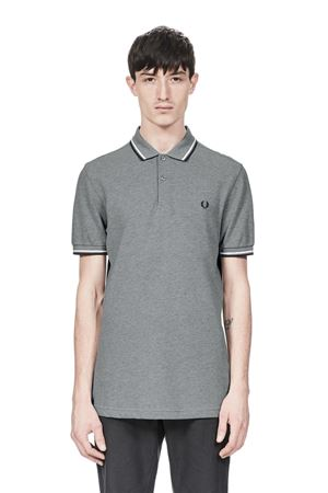 FRED PERRY-M3600-STEEL-MARL/SNOW-WHITE/NAVY