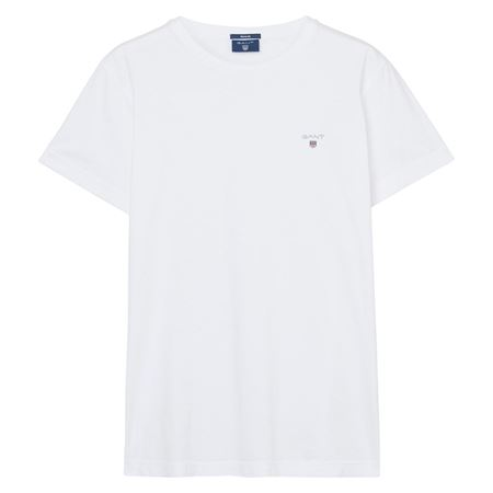 GANT-SHORT-SLEEVED T-SHIRT--WHITE