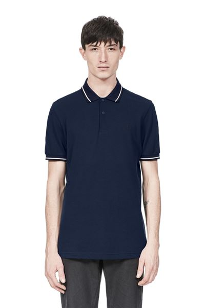 FRED PERRY-M3600-CARBON-BLUE/SNOW-WHITE/NAVY