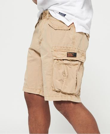 SUPERDRY-CORE LITE RIPSTOP CARGO-SHORTS-CORPS-BEIGE
