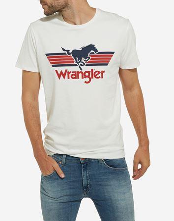 WRANGLER-GRAPHIC LOGO TEE-OFFWHITE