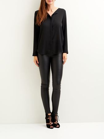 LUCY BLUSE -BLACK