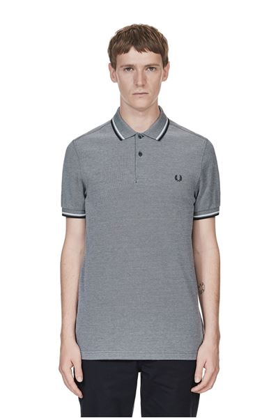 Fred Perry - M3600 - 759 Dark Carbon Oxford / White / Navy