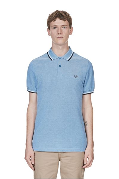 Fred Perry - M3600 - 661 Prince Blue Oxford / White / Navy