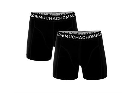 MUCHACHOMALO-1010 BOXER SOLID 2PK 02-BLACK-XXX-LARGE