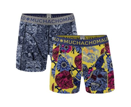 MUCHACHOMALO-2-PACK MEN SHORT LEAVES X