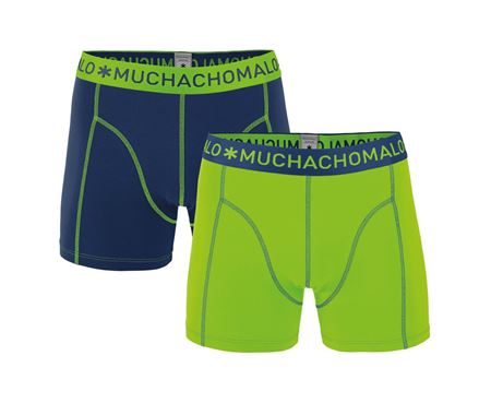 MUCHACHOMALO-2-PACK MEN SHORT GRASS GREEN/NAVY