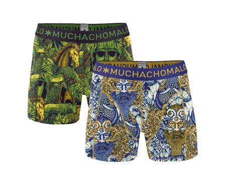 Muchachomalo - 2 - PACK MEN SHORT NORWAX - Green