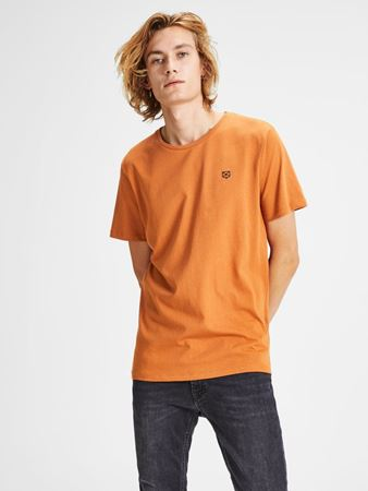 JACK&JONES-PLAIN SLIM FIT T-SKJORTE-AUTUMNAL