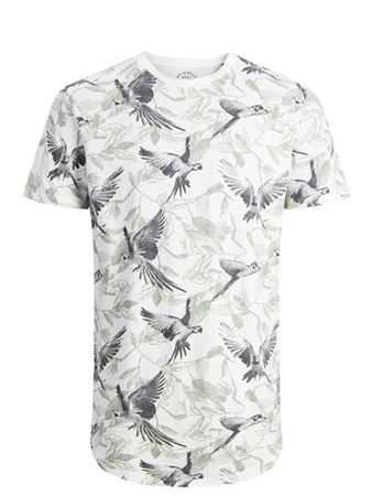 JACK&JONES-ALL-OVER PRINTED T-SHIRT-CLOUD-DANCER
