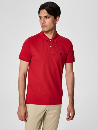 SELECTED HOMME-CLASSIC - POLOSKJORTE-SCARLET-SAGE
