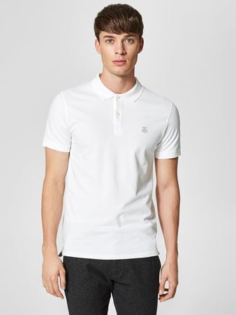 SELECTED HOMME-CLASSIC - POLOSKJORTE-BRIGHT-WHITE