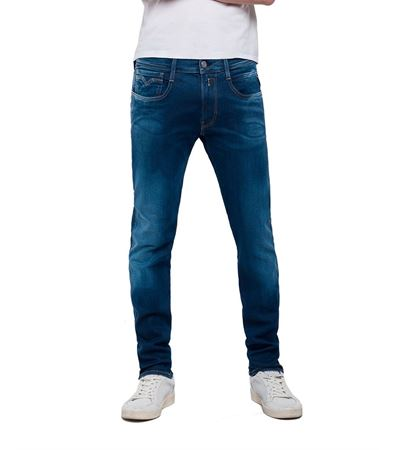 REPLAY-HYPERFLEX SLIM FIT ANBASS JEANS-BLUEDENIM