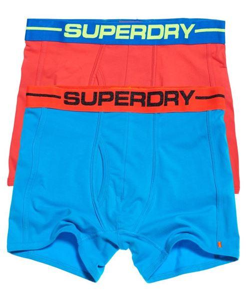 SUPERDRY-SPORT BOXERS I DOBBELPAKNING-HAWAII-BLUE/COASTAL