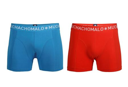 MUCHACHOMALO-1010 BOXER SOLID 2PK 38-BLUE/RED-XX-LARGE