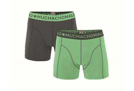 MUCHACHOMALO-1010 BOXER SOLID 2PK 212-LIGHT-GREEN/GREY-SMALL