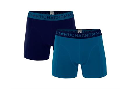 MUCHACHOMALO-1010 BOXER SOLID 2PK 196-MEDIUM-BLUE/NAVY-SMALL