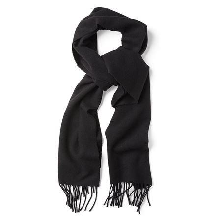 GANT-SOLID LAMBSWOOL SCARF-BLACK