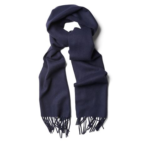 GANT-SOLID LAMBSWOOL SCARF-NAVY