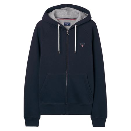 GANT-ORIGINAL FULL ZIP HOODIE-EVENING-BLUE
