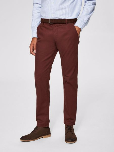 SELECTED HOMME-CLASSIC - TROUSERS-BITTER-CHOCOLATE