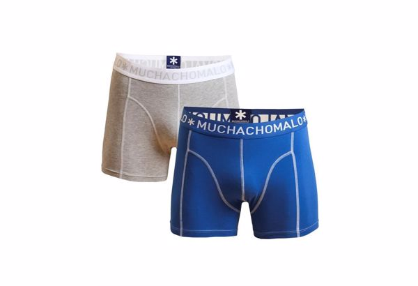 MUCHACHOMALO-BOXER  2PK -GREY/BLUE