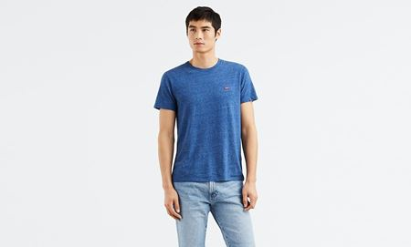 LEVI'S-ORIGINAL TEE-TRI-BLEND-+-PATCH-GALAXY-BLUE