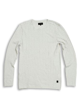 GABBA-RUNE O-NECK KNIT-OFF-WHITE