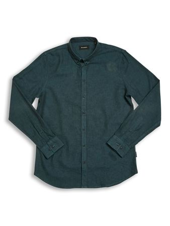 GABBA BROOKS LINEN L/S SHIRT - EMERALD NIGHT